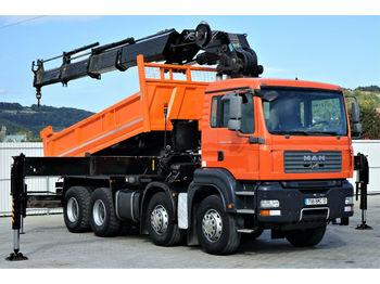 Kipper MAN TGA 35.400 Kipper 5,00 m+KRAN/FUNK HIAB 600*8x4!