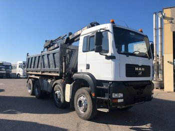 MAN TGA 35.430 8x4, Hiab 144 Bj 2008 - Kipper