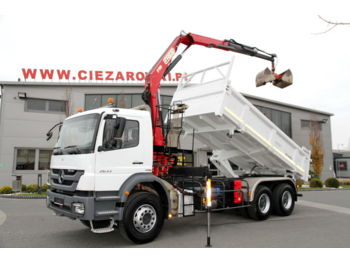 MERCEDES-BENZ AXOR 2633 3 SIDED TIPPER CRANE F110A.22 7.9 M - Kipper