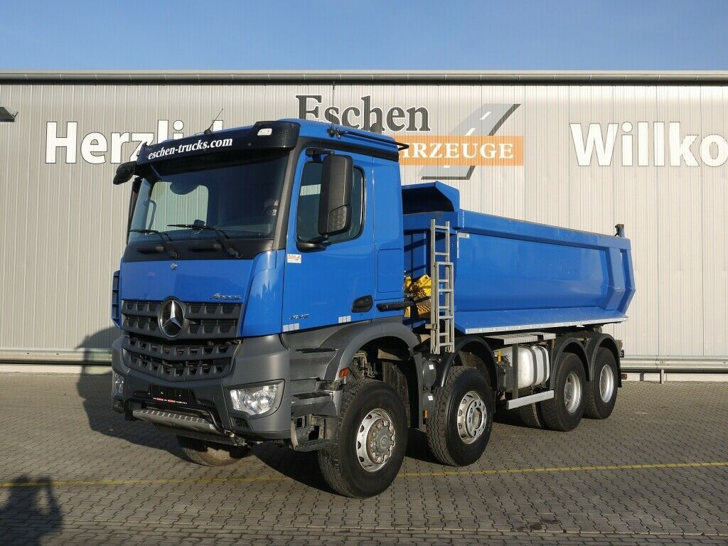 Kipper Mercedes-Benz Arocs 4142, 8x6, 15m³ Carnehl Mulde, Blatt,Klima