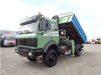Kipper Mercedes-Benz SK 1844 + 4X4 + PTO+ MANUAL+ CRANE+ KIPPER