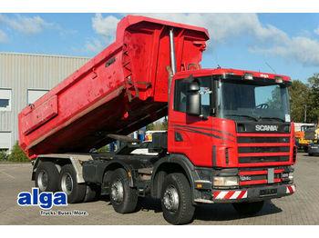 Kipper Scania R124CB 8x4, Mulde, Hydr. Klappe, Schalter, 420PS