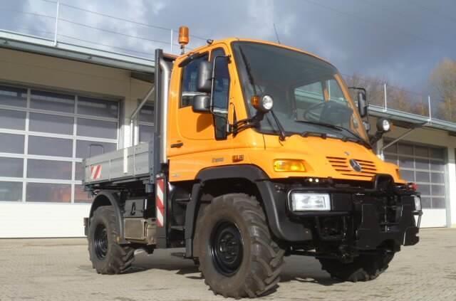 Kipper Unimog 300 - U300 mit Werner HZW + Heckkraftheber