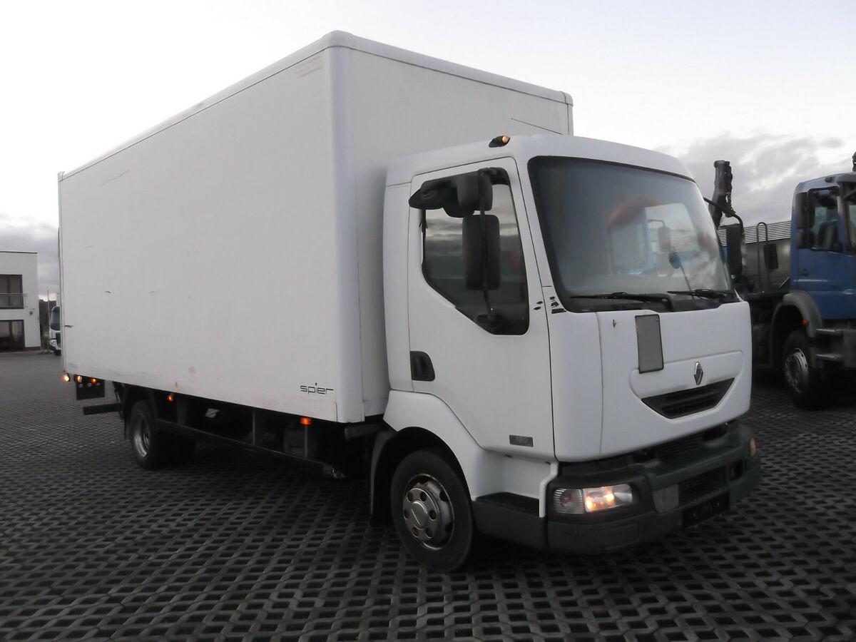 Koffer LKW Renault  Midlum 180 DCI, Koffer  mit LBW
