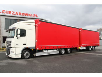 DAF DAF FLIEGL SET FAR XF105.460 E5 6x2 LD 120 m3 SpaceCab LOW SET FAR XF105.460 E5 6x2 LD 120 m3 SpaceCab LOW TPS180 MEGA TARPAULIN - Plane LKW