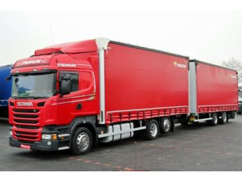 Plane LKW Scania R 410 HIGHLINE,EURO 6,RETARDER + TRAILER