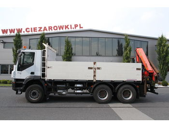 IVECO 6x4 TRAKKER PALFINGER PK 18002 EH 16 M WITH ROTATOR - Pritsche LKW