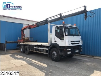 Iveco Trakker 360 EURO 5, 6x4, Palfinger, Steel suspension, Manual, Airco - Pritsche LKW