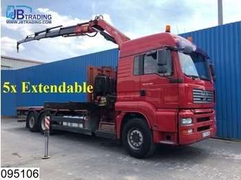 MAN TGA 26 400 6x2, Fassi crane, 5x extendable, Manual, Rotator, Remote control, euro 4 - Pritsche LKW