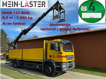 Pritsche LKW MAN TGM 18.280 HIAB 122 Duo 8,2 m-1.4T Pritsche 6,1m
