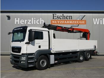 Pritsche LKW MAN TGS 26.400 6x2LL, Lift/Lenk, Palfinger PK 21001L