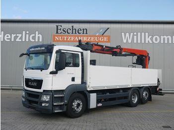 Pritsche LKW MAN TGS 26.400 6x2-4,Palfinger PK 21001L, Scheckheft