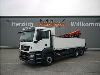 Pritsche LKW MAN TGS 26.400 6x2,EU6,Lift/Lenk,Palfinger PK 21001L