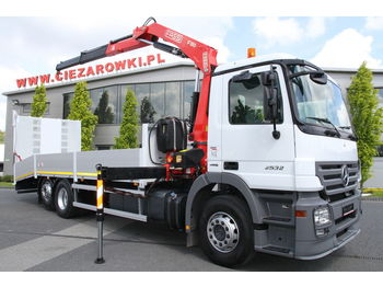 MERCEDES-BENZ ACTROS 2532 L CRANE FASSI 150A.22 8 M CAR CARRIER TOW TRUCK - Pritsche LKW