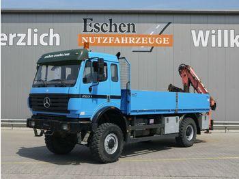 Pritsche LKW Mercedes-Benz 2031 A, 4x4, Atlas 80.1 Kran, Blatt, Schalter