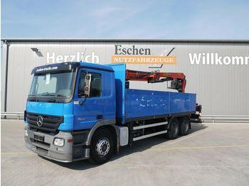 Pritsche LKW Mercedes-Benz Actros 2641 L, 6x4, Palfinger PK 21001 L, Klima