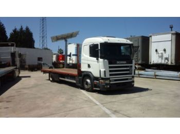 Pritsche LKW SCANIA 124L 400 left hand drive 18 ton manual fuel pump
