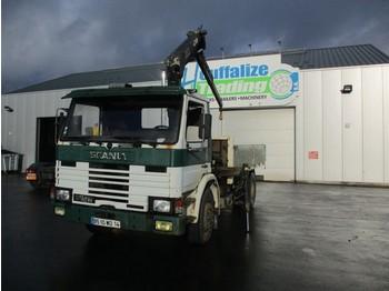 Pritsche LKW Scania 82M - full steel - crane