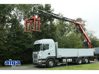 Pritsche LKW Scania G 440 6x2, Kran Fassi F240ASXP, Retarder, klima