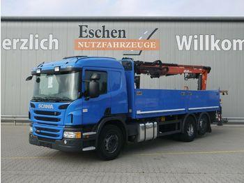 Pritsche LKW Scania P 360*Atlas Kran 186.3 V*Klima*Lift/Lenk*Opti