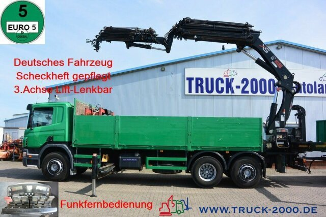 Pritsche LKW Scania P 380 Hiab 377-E6+JIB 70X-4 Retarder TüV 02/22