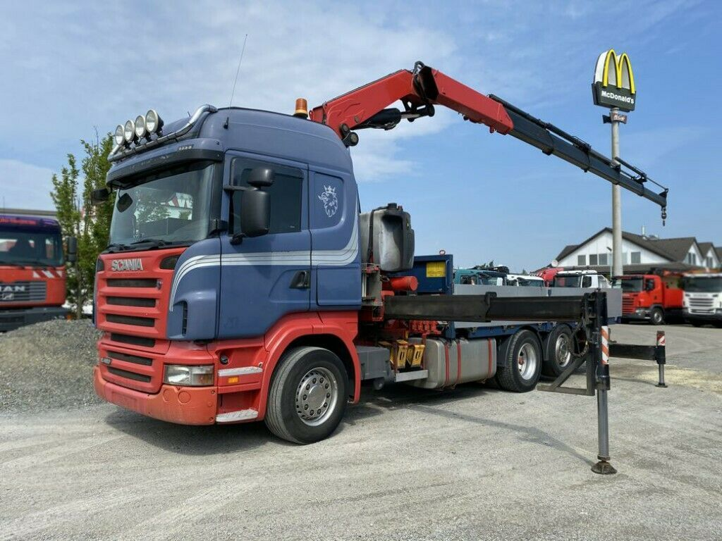 Pritsche LKW Scania R 480LB 6x2 HLA Pritsche Kran Fassi F450BXP