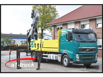 Pritsche LKW Volvo FH 420, Baustoff, 6x4, Fassi F215 AS 22,