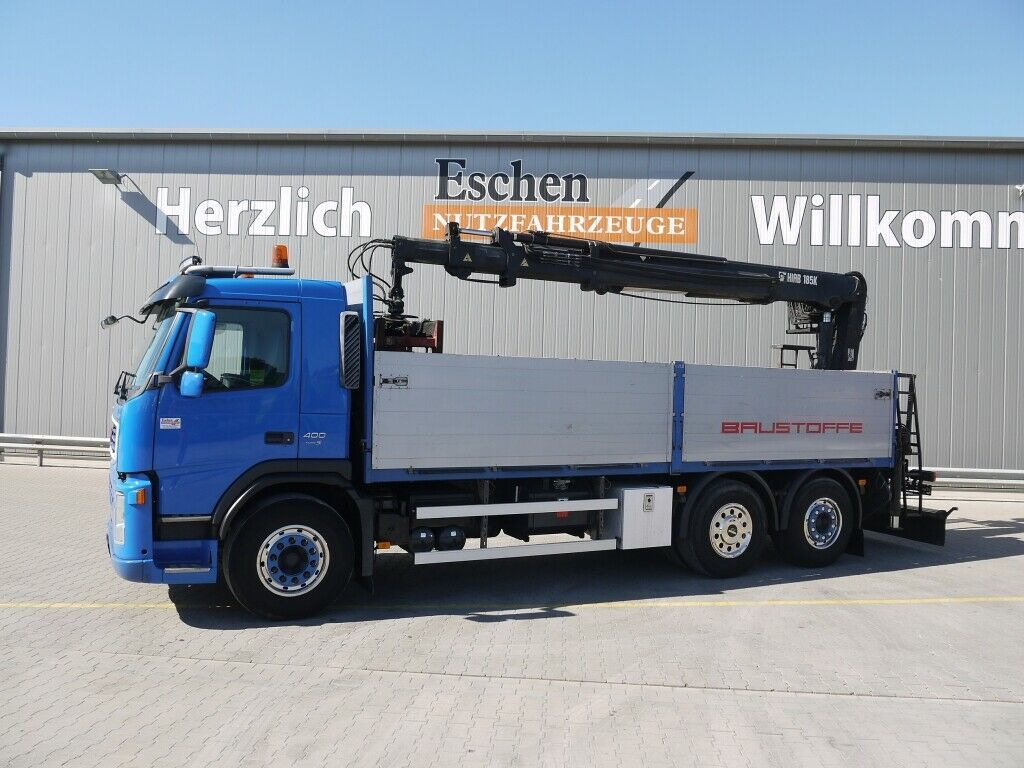 Pritsche LKW Volvo FM 400, 6x2, Lift/Lenk, HIAB 185 K Heckkran