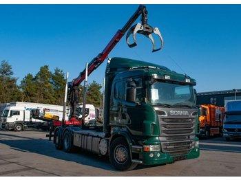 LKW Scania R500 V8 6x2 Huttner Palfinger M100Z