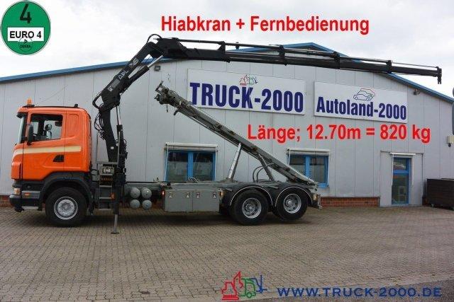 Seil Abrollkipper Scania R 340 Seil-Abrollkipper mit Hiab Ladekran + FB