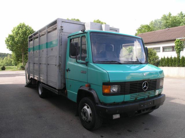 Top Mercedes-Benz 814 D Viehtransporter Vario el./hydr. Rampe @GH_73
