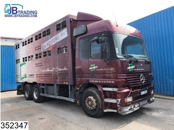 Tiertransporter LKW Mercedes-Benz Actros 2543 6x2, 2 layers Animal transport Body, EPS 16, 3 Pedals, Airco, Roof height adjustable