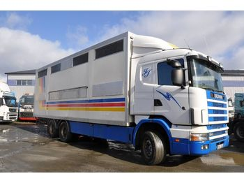 Tiertransporter LKW SCANIA R124 LB6X2NB400