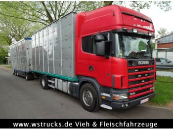 Scania 164/580  Topline 2 Stock    V8  - Tiertransporter LKW