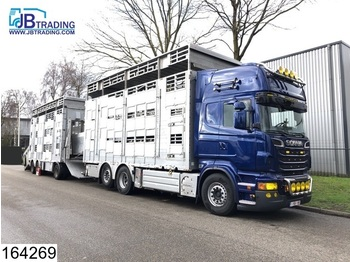Scania R 620 6x2, EURO 5, Animal transport, 3 layers, Manual, Retarder, Airco, Standairco, Combi - Tiertransporter LKW