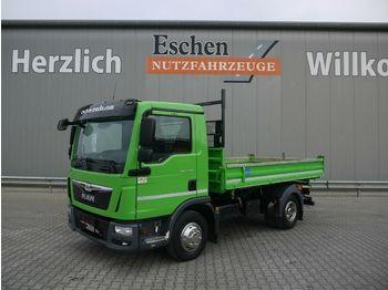 Kipper Transporter MAN TGL 8.180 BB, Meiller 3-Seiten, 3 Sitze, 2 AHK