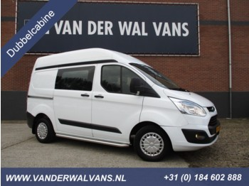 Ford Transit Custom 2.2TDCI L1H2 Trend Dubbele Cabine Airco, cruise, trekhaak . - Koffer transporter