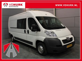 Koffer transporter Peugeot Boxer 333 2.2 HDI DC Dubbel Cabine L3H2 Inrichting/Airco/7 P