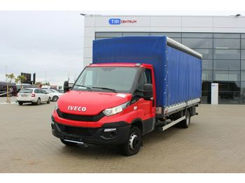 Transporter mit Plane Iveco DAILY 60C15, HYDRAULIC LIFT