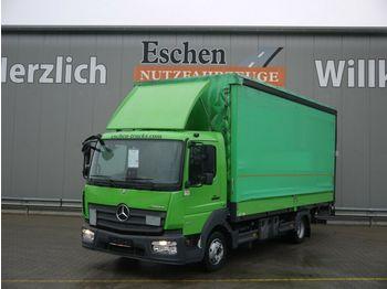 Transporter mit Plane Mercedes-Benz 818 L Atego, EUR6, LBW, Spurhalte, Edscha